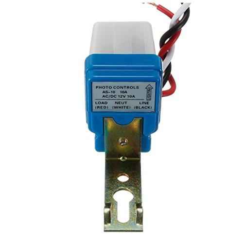 CUHAWUDBA - Interruptor crepuscular para lámpara CC 12 V 10 A interruptor crepuscular