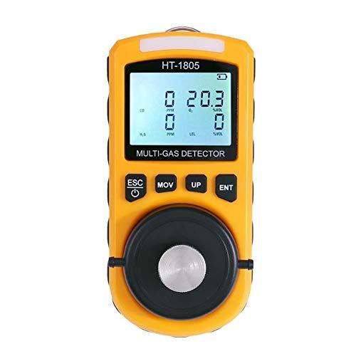 no-branded 4 in 1 beweglichen LCD-Anzeigen-Digital-Gastester Detector Sauerstoff LEL CO H2S Gas Dichtewächter Hand Gas Analyzer XXYHYQHJD