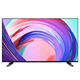 Zzmop HD Smart LED TV,TV LCD de Pantalla Plana 4K con Monitor de Pantalla Ancha,TV de Montaje En Pared O de Pie,Reproducción de Medios USB