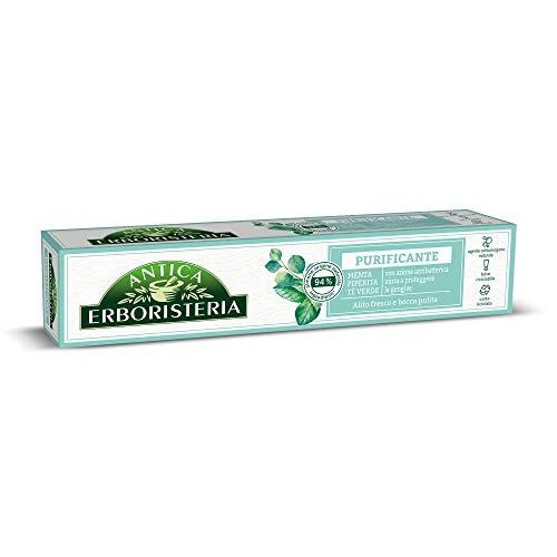 Antica Erboristeria, Dentifricio Purificante, con Ingredienti di Origine Naturale, con Menta Piperita e Tè Verde, 75 ml