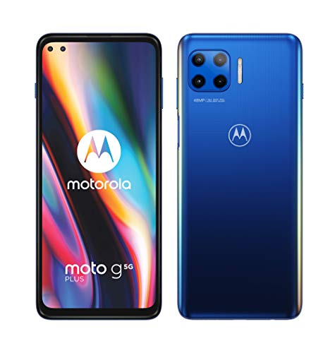 Motorola moto g 5G plus (5G, 6.7' FHD+, Qualcomm Snapdragon SD765, 48MP quad camera system, 5000 mAH battery, Dual SIM, 4/64GB, Android 10), Surfing Blue