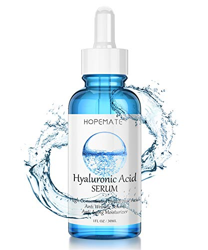 41yWVbyf6TL - Hyaluronic Acid Skin Care Serum, HOPEMATE H Natural Botanical Serum Serum, 5% Pure Hyaluronic Acid Face Serum, revitalize, Hydrates, Plumps Skin, Anti Aging, Wrinkle Serum, Repairs Damage Skin