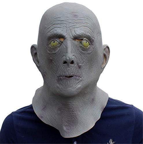 tytlmaske Full Face Scary Alien Maske,Glatze Alter Mann Ghost Latex Maske,Horror Masquerade Adult Movie Maske,Für Halloween Cosplay Requisiten Spielzeug