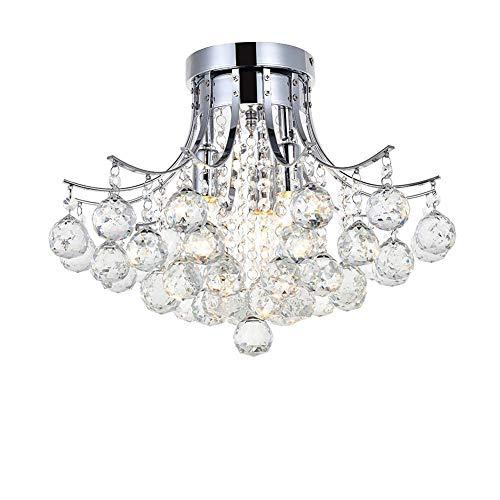 YUNZHI LED de la lámpara de araña de Cristal, luz Moderna cristalina Mini empotrada en el Techo Sala Comedor Dormitorio Escaleras Cromo de la lámpara de iluminación de la lámpara en el salón