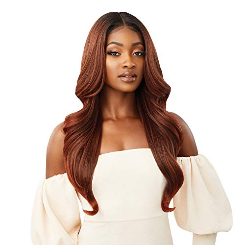 Outre melted Hairline Lace Front Wig Frontal Effect Hairline HD Transparent Lace SERAPHINE (1B)