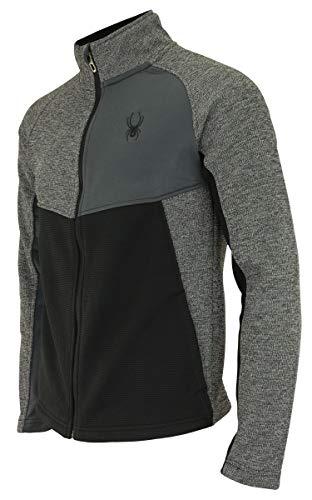 Spyder Mens Heath Color Block Full Zip Sweater, Polar Marble Medium