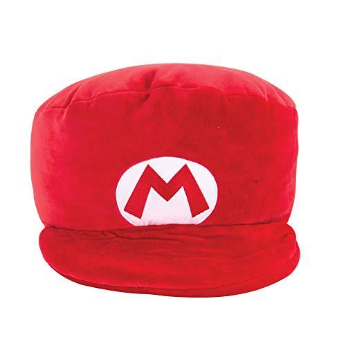 Mario Hut Mocchi Mocchi (Large), das Nintendo Mario Kart Mocchi Mocchi Plüsch Spielzeug Kissen ist das perfekte Kuscheltier für das Kinderzimmer oder Sofa, für Kinder, Erwachsene und Nintendo-Fans