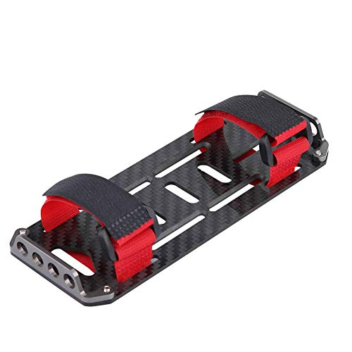 V GEBY Carbon Fiber Battery Mounting Plate, Car Battery Mount Replacement Compatible for Redcat Axial scx1 1:10 Crawler RC Car