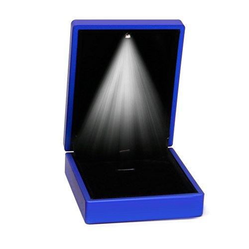 SANGHAI Colar com pingente Premuim com pingente de luz LED caixa de presente exibição de joias azul