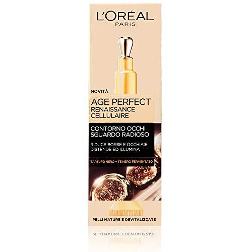 L'Oréal Paris Trattamenti Age Perfect Renaissance Cellulaire Crema Viso Contorno Occhi Sguardo Radioso, 15 ml