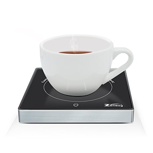 Zoiibuy Coffee Tea Mug Warmer Cup Warmer Hot Drinks Beverage Warmer (Up to 131℉) for Home Office (1.4M Wire) (Black.)