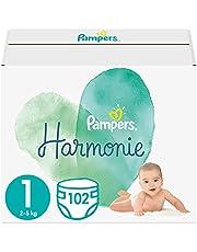 Pampers Maat Harmonie Luiers, 132 Stuks, Beschermt de gevoelige babyhuid
