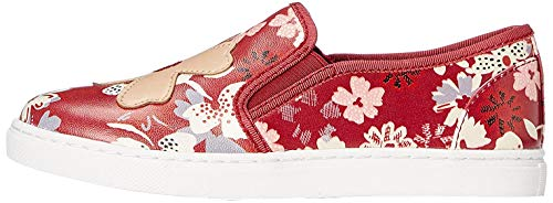 Marca Amazon - RED WAGON Zapatillas sin Cordones con Estampado de Flores para Niña