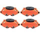 ベストアンサー マシンローラー レッド 使用荷重 4t 4台セット チルローラー テスト荷重 6t スピードローラー 搬用マシンローラー 重量物運搬 台車