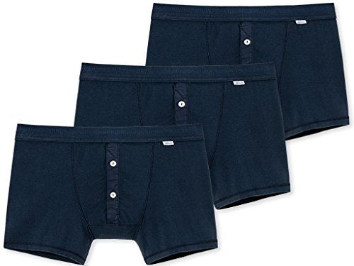 Schiesser Revival - Das Original - Shorts Karl-Heinz - 3er Pack - dunkelblau (L)