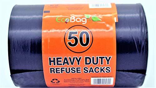 EcoBag – 50 Eco bolsas de basura resistentes de 100 litros