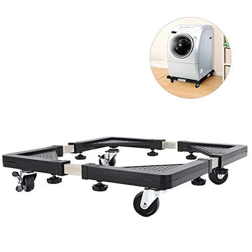 Millster Untergestell Für Waschmaschine Waschmaschinen -Kühlschrank Basis Verstärkte Einziehbare Waschmaschine Bewegliche Rack mit Rädern Küche Regal Einstellbare Dolly