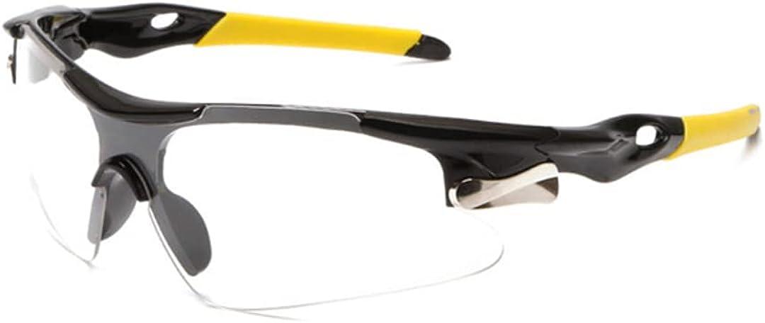 JJ LMS Gafas padel gafas proteccion padel con lentes protectoras transparentes gafas de seguridad deportiva pádel + paño antivaho para una visión óptima + pegatina de paddle