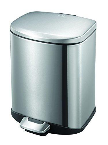 EKO Della Poubelle à Pédale Métal Inox 23,4 x 23,4 x 31 cm 6 litres