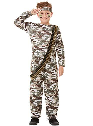 Funidelia | Disfraz Militar para niño y niña Talla 5-6 años ▶ Militar, Soldado, Profesiones, Camuflaje - Verde