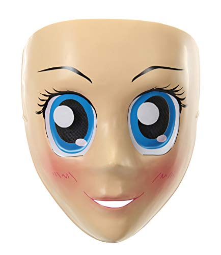 Anime Blue Eyes Face Mask Costume Cosplay Accessory for Adults & Teens