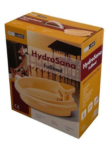 Hydrosana Fußelektrolysegerät, Elektrolyse-Fußbad mit 3 Spulen - Gelb