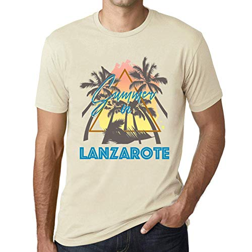 One in the City Hombre Camiseta Vintage T-Shirt Gráfico Summer Triangle Lanzarote Natural