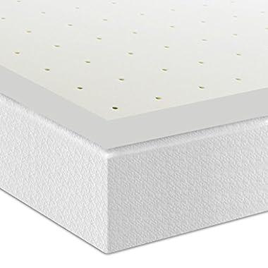 Best Price Mattress 3  Premium Ventilated Memory Foam Mattress Topper, Queen