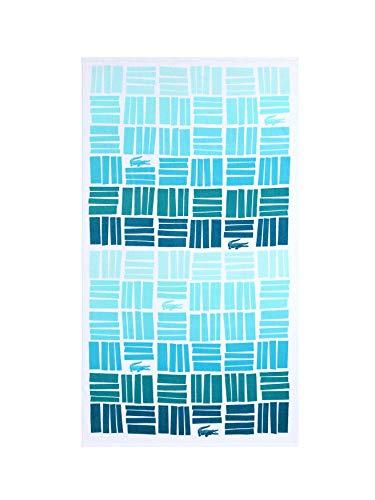 Lacoste Strandtuch mit Farbverlauf, 100% Baumwolle, 91,4 x 183,9 cm, Aqua