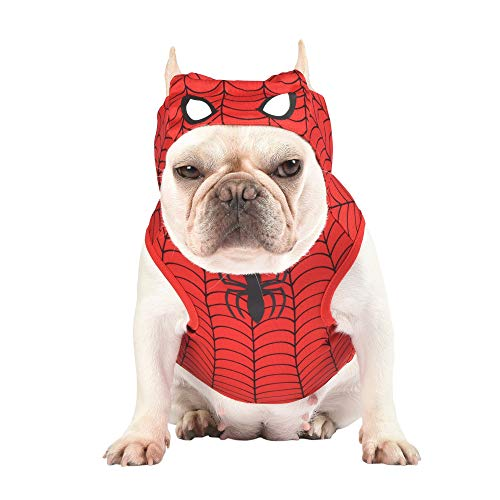 Marvel for Pets Marvel Legends Spiderman Dog Costume, XS   X-Small Spiderman Costume for Dogs   Red Dog Costume, Red Dog Outfit   Dog Costume for Very Small Dogs