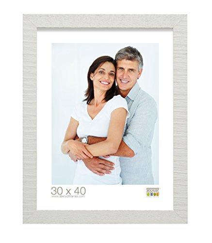 Deknudt Frames S43XF1-20.0X30.0 Bilderrahmen, Holz, strukturiert, 36,4 x 26,4 x 1,4 cm, Weiß
