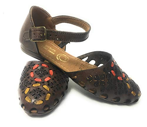 Hand Made Womens Original Mexican Huarache Sandals, Leather Sandals (Size 7) Tan