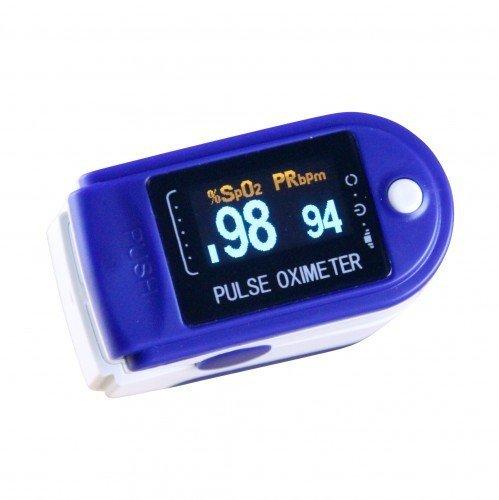Oxímetro de pulso cms 50D–Varios colores–Accesorios, color azul