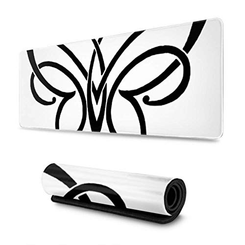Gaming Moursepad Ornament Insect Design Nature Large Mouse Pad Keyboard Pad Game Mouse Mat For Office Home,30 X 80 cm