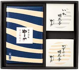 ギフト やまや 海の幸 (辛子明太子(無着色)200g/いか明太子120g/かずのこ明太子120g)