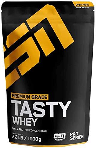 ESN Tasty Whey Protein – 1000g – Iced Latte – Molkenproteinkonzentrat reich an EAAs und BCAAs – Instant – 33 Portionen – Made in Germany