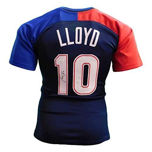 Carli Lloyd Autographed Blue USA Soccer Jersey (JSA) - Autographed Soccer Jerseys