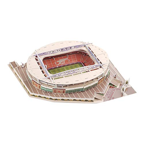 Honganrunli 2021 Neuestes 3D-Puzzlespielzeug für das Emirate-Stadion, Panorama-Architektur-Puzzles für das Fußballfeldstadion, Modellbausatz für das Fußballstadion für Kinder, Jungen Mädchen