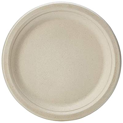 AmazonBasics Compostable Plate, 9-Inches, Kraft, 500-Count
