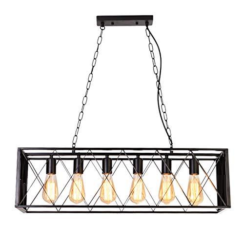 Z iluminación Creativo Sencillo Bar de la lámpara Retro Estilo Industrial Loft temático café del Restaurante de la Jaula de pájaro de la decoración 6 Cabezas de Las Luces Fashion