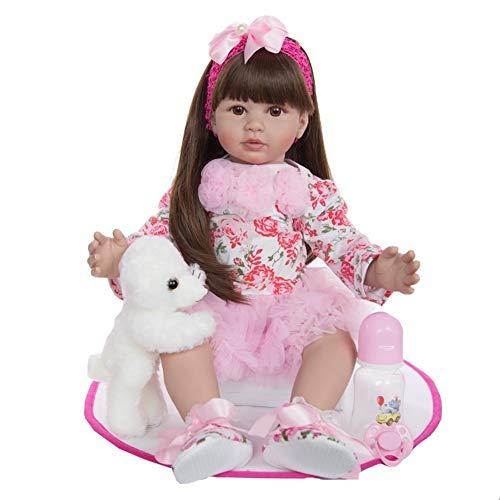 BIingkee Bambola Reborn Femmina 24 Pollici 60 CM Realistico Vinile Silicone Morbido Simulazione Bambino Bambole Reborn Toddler Babies Regalo di Compleanno Giocattoli Magnetico (871)