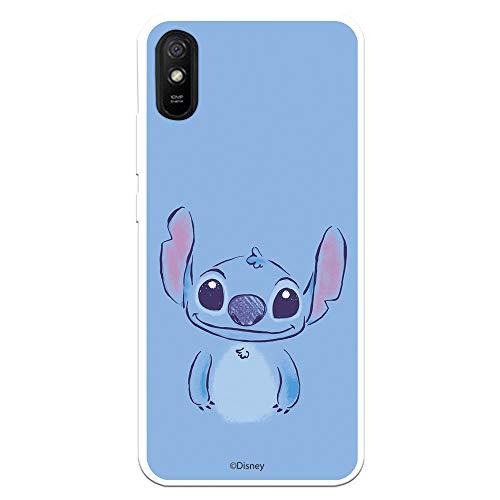 Funda para Xiaomi Redmi 9A - Redmi 9AT Oficial de Lilo & Stitch Stitch Azul para Proteger tu móvil. Carcasa para Xiaomi de Silicona Flexible con Licencia Oficial de Disney.