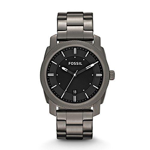 Fossil Herren Analog Quarz Uhr mit Edelstahl Armband FS4774
