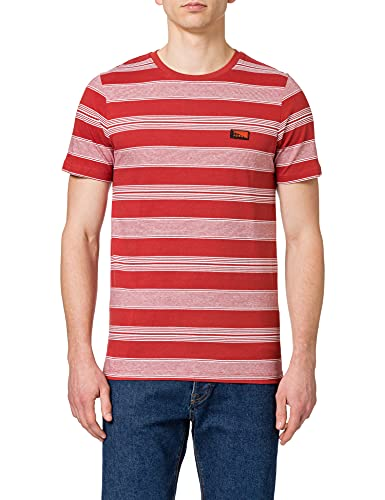 Jack & Jones JCOFLAME tee SS Crew Neck Camiseta, Red Ochre Fit: Slim, XL para Hombre