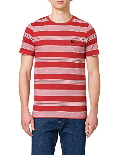 Jack & Jones JCOFLAME tee SS Crew Neck Camiseta, Red Ochre/Fit: Slim, XL para Hombre