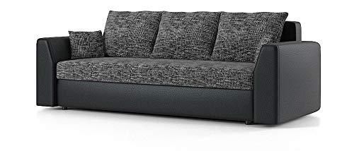 Sofini Couch Paul mit Schlaffunktion! Best Couch! Couch mit Bettkasten! (Lawa 17+ Soft 11)