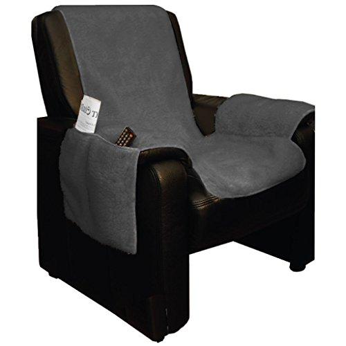 Lammflor Sesselschoner Sesselauflage Überwurf Sesselüberwurf Sesselbezug Polster