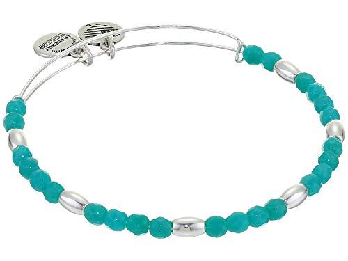 Alex and Ani Balance Bead II Bracelet Mint Green 1 One Size, Shiny Silver