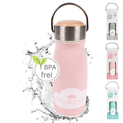 Edelstahl Thermosflasche Mädchen rosa 350ml **von Baby bis Kinder Alter** Trinkflasche Thermoskanne Isolierflasche Kind auslaufsicher