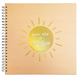 Hard Cover Kraft Scrapbook Photo Album, You are My Sunshine (80 Pages)